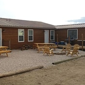 Grey Reef Cabins Alcova Wyoming Lodging Outside View